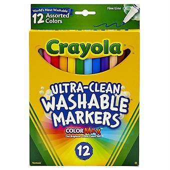 Marqueurs lavables fine ligne 12 Ct.