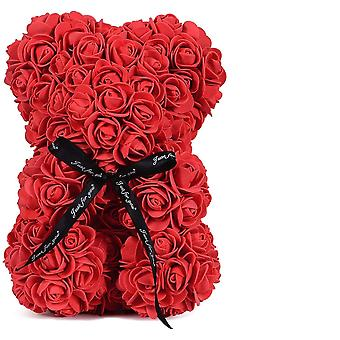 Valentineteddy Rose Bear With Box Luxurious Of Flower Artificial