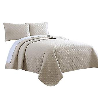 Molde 3-Piece Diamond Quilted King Coverlet Set The Urban Port, Beige