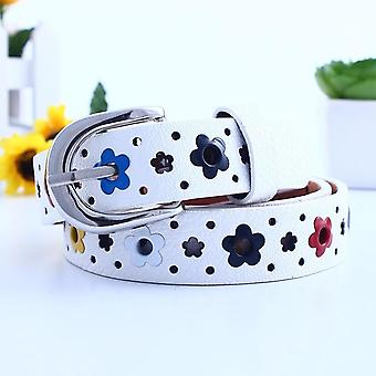 Waistband, Hollow Butterfly, Flowers, Lace Belt,,, Leather Casual Pin Buckle