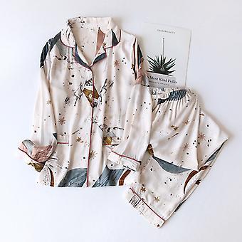 春の長袖シンプルなスタイルのパジャマズボンレディーススーツロングパジャマレディースホームサービス