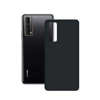 Mobiele hoes Huawei PSmart 2021 Contact Silk TPU Black