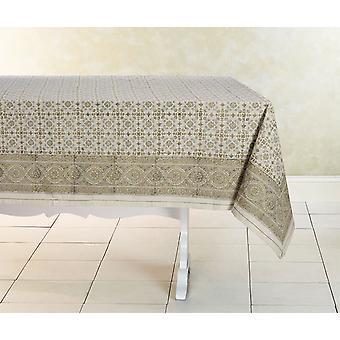 Spura mano casera hecho indio oriental lily algodón mantel 5'x5'