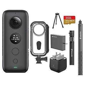 Jedna športová akčná kamera X s puzdrom a nabíjačkou batérií Venture