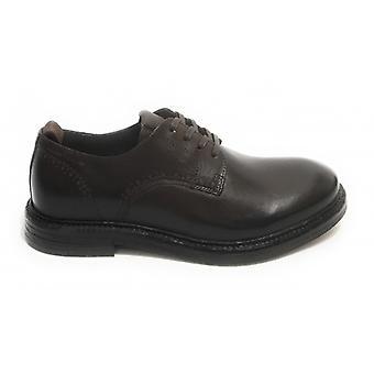 Pantofi Men's Ambitios 11071 Francesina Lace-up Piele Cap Di Moro U21am25