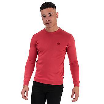Men's Henri Lloyd Cotton Round Neck Jumper in Red