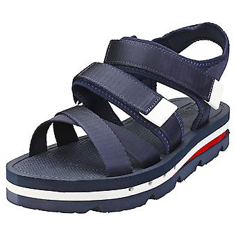 Tommy Jeans Strap Sandal Mens Platform Sandals in Twilight Navy