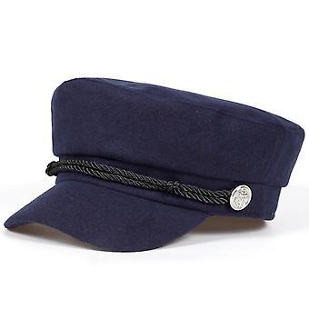 New Navy Cap, Female Winter Hats Men Ladies Army Cap