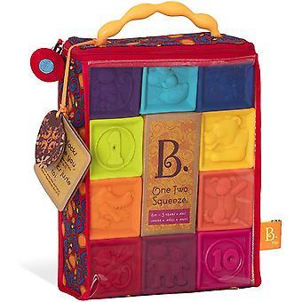 Baby Spielzeug Weiche Baukltze, Bausteine Motorikspielzeug, Lernspielzeug, Stapelwrfel mit Zahlen