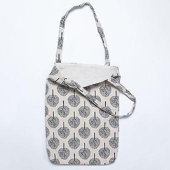 Cotton Canvas Floral Handmade Handbag File Bag