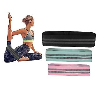 3PCS SPORX Fabric Loop Resistance Band Set For Fitness