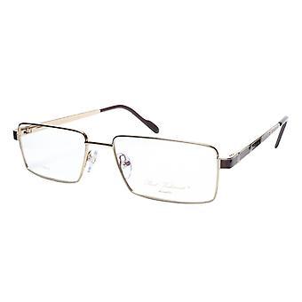 Paul Vosheront Eyeglasses Frame PV323 C1 Gold Plated Wood Italy 57-17-145 32