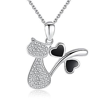 Gemshadow for women in sterling 925 silver with cat necklace zircons