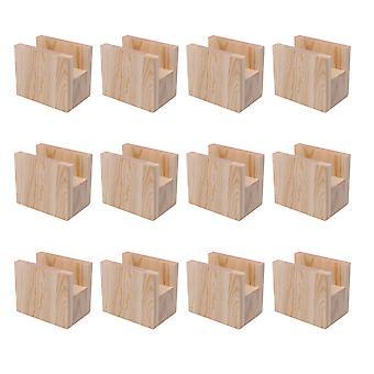 12 x Groove Tipo Muebles Elevador de almacenamiento para mesa escritorio w / Caja 10x5x4cm