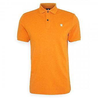 G-Star Dunda Slim Fit Polo T-Shirt Amber Heather D11595