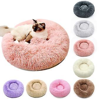 Weiche Plüsch flauschige Kissen Donut Runde Haustier Bett