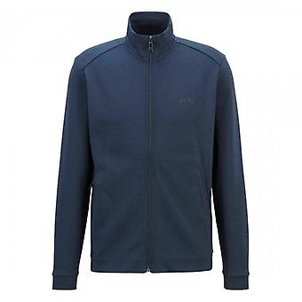 Boss Green Hugo Boss Skaz Navy Zip Up Track Top Sweatshirt 50455095