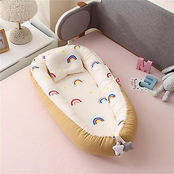Baby Nest Bed With Quilt, Newborn Cotton Crib Cot Set