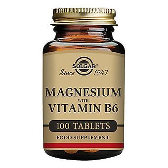 Magnesium + vitamin B6 Solgar (100 tabletter)