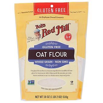 Bobs Red Mill Flour Oat, Fodral på 4 X 18 Oz