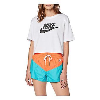 kvinners kortermet t-skjorte nike sportsklær viktig bv6175 100 hvit