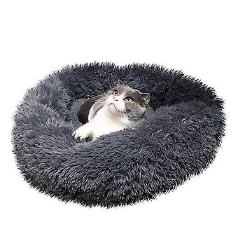 Pet Dog Cat nyugtató ágy meleg puha plüss kerek navy színes pet pad kisállat kutya macska