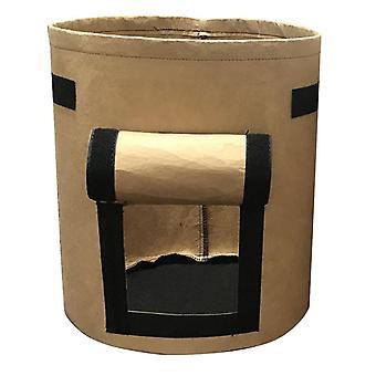 Brown 35*40cm non-woven visual planting bag homi2576
