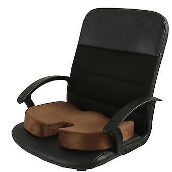 Cojín de asiento de espuma de memoria para asientos de coche, oficina en el hogar y Cojín de viaje (café)