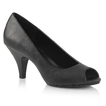 Fabulicious Frauen's Schuhe BELLE-362 Blk Kunstleder/Blk Matt