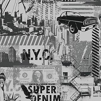Ugepa Liberty Silver Wallpaper L32409