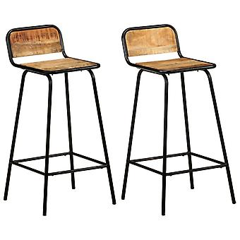 vidaXL bar chairs 2 pcs. solid wood mango