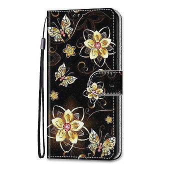 Hoesje voor Samsung Galaxy A52 4g/5g Painted Flip Cover Magnetische Sluiting Butterfly