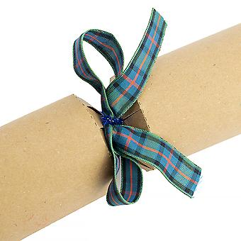 LAST FEW - 16 Ready Made Cracker & Gift Bows - Flower of Scotland Tartan