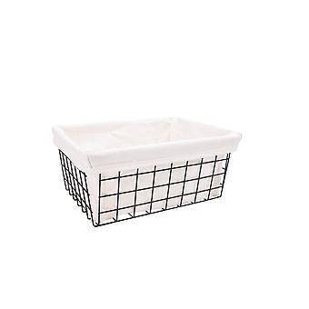 Snack Basket Frame Organizer Iron Art Wire Wrought Storage Basket with Interlining Detachable Simple