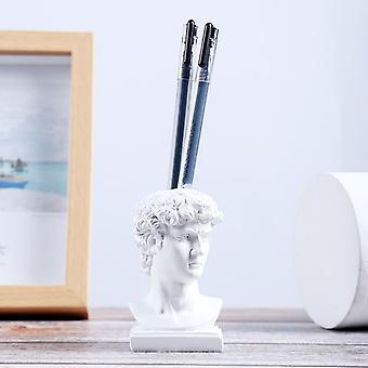 Klassinen nastapatsas kodin sisustus 9cm sininen ja valkoinen david patsas hammastikku, veitsi ja haarukka putki