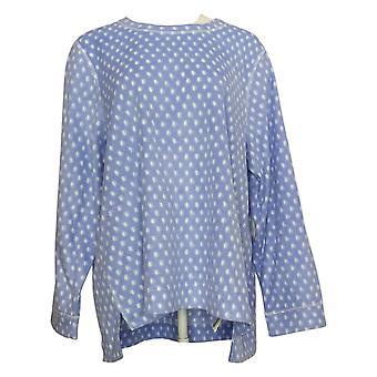 Soft & Cozy Women's Pajama Top Plus Sueded Fleexe Long Slv Purple 662992