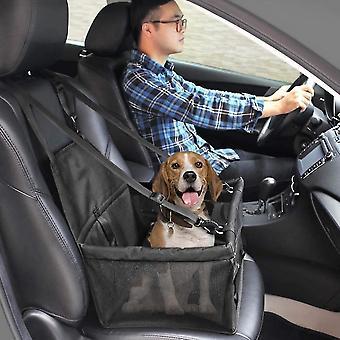 تعزيز مقعد الداعم سيارة الكلب القط المحمولة للسفر مع مقطع على المقود والتخزين