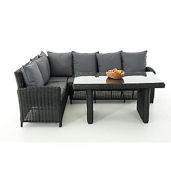 Tuinmeubelen - Tuinmeubelen - Loungemeubels - Modern Zwart 162 cm x 69 cm x 84 cm