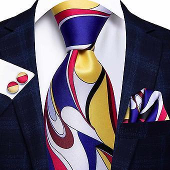 Cravatta italiana hi-tie 100% set cravatta da uomo in seta, 8,5 cm (C-1230)