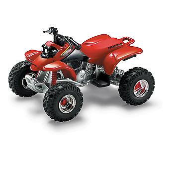 Fundido vermelho Honda Sportrax 400EX quatro rodas, 01:32 escala