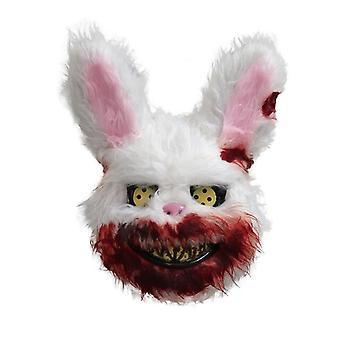 Halloween Gruselig Kaninchen Masken Blutige gruselige Maske Festival Plüsch Cosplay Horror Kleid Kinder Erwachsene Kostüm Party Horror Maske