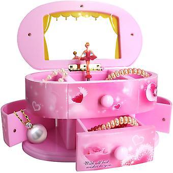 Musikalische Schmuck-Box, Mädchen Musikalische Schmuck Aufbewahrungsbox (rosa)