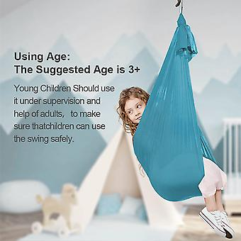 Elastische kinderen binnen en buiten schommel yoga hangmat