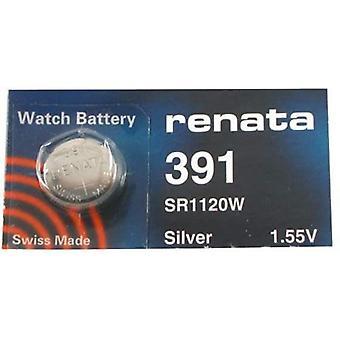 Renata 391 Mercury Free 1.55 Volt Watch Battery Replaces - Pack of 10 (SR1120W)