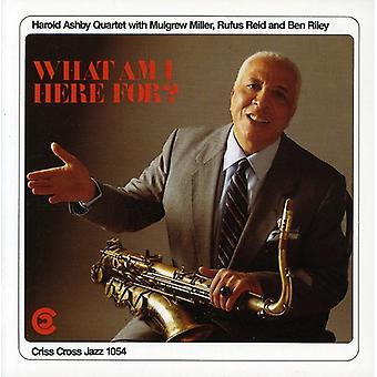 Harold Ashby - What Am I Here for [CD] USA import