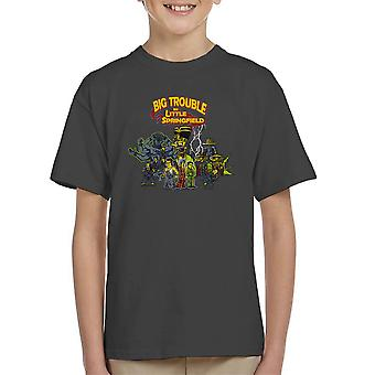 Big Trouble In Little Springfield Simpsons China Kid's T-Shirt