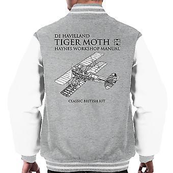 Haynes ägare verkstad manuell de Havilland Tiger Moth mäns Varsity jacka