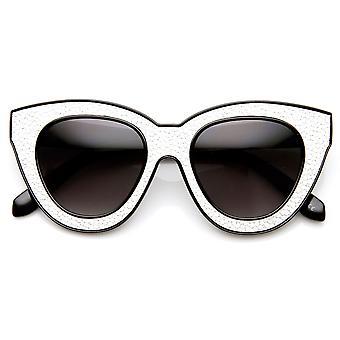 Huippumuotia lohko leikata tekstuuri tulosta Cat Eye aurinkolasit