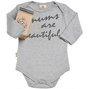 Spoilt Rotten Mum's Are Beautiful Long Sleeve Baby Grow