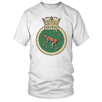 Royal Navy HMS Artful Kids T Shirt